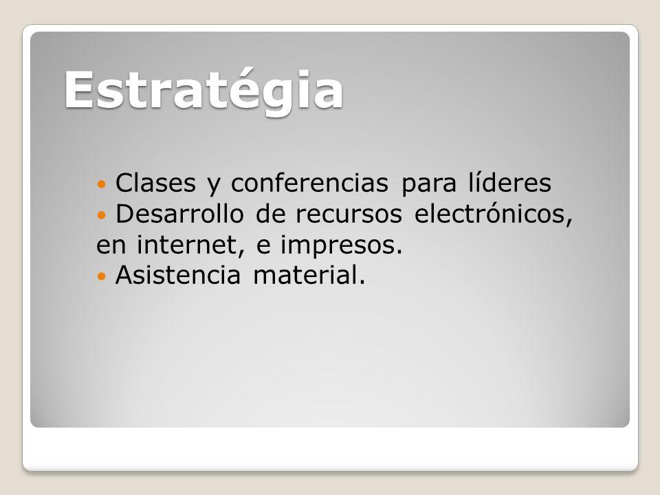 Estratégia Clases y conferencias para líderes