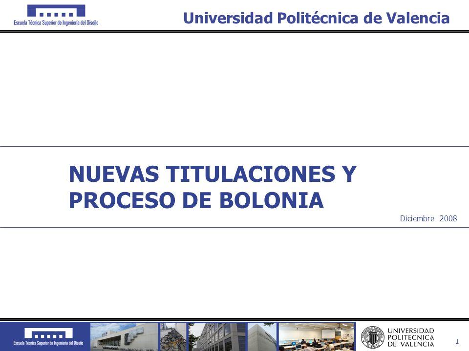 NUEVAS TITULACIONES Y PROCESO DE BOLONIA