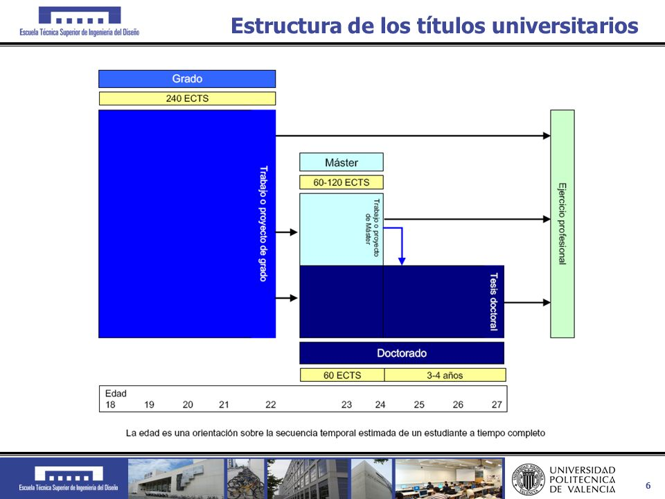 Estructura de los títulos universitarios