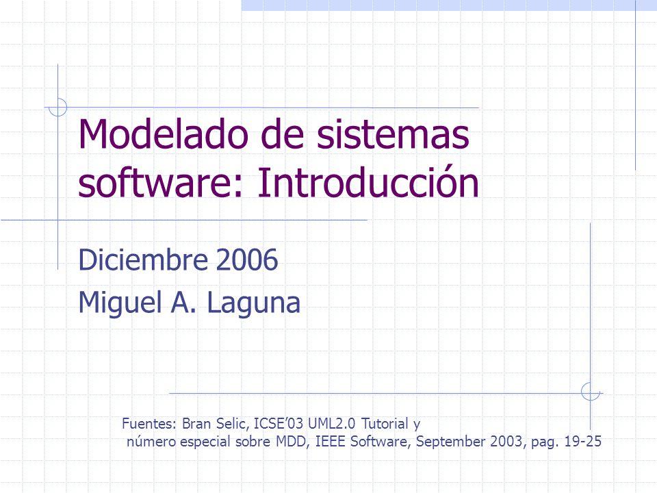 Modelado de sistemas software: Introducción