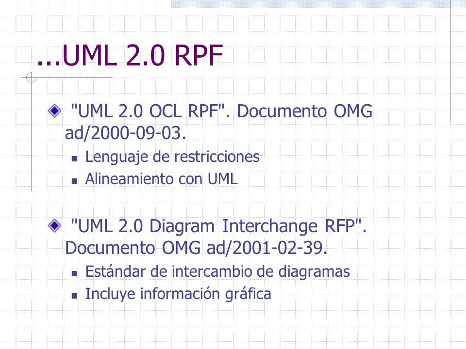 ...UML 2.0 RPF UML 2.0 OCL RPF . Documento OMG ad/2000-09-03.