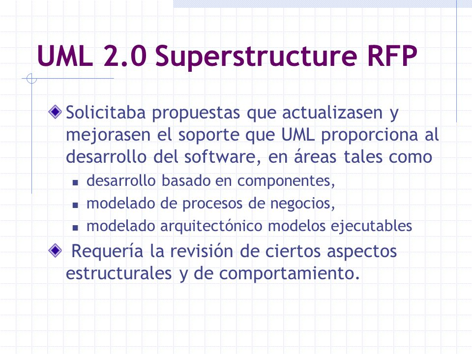 UML 2.0 Superstructure RFP