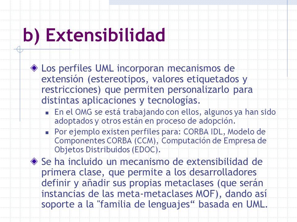 b) Extensibilidad