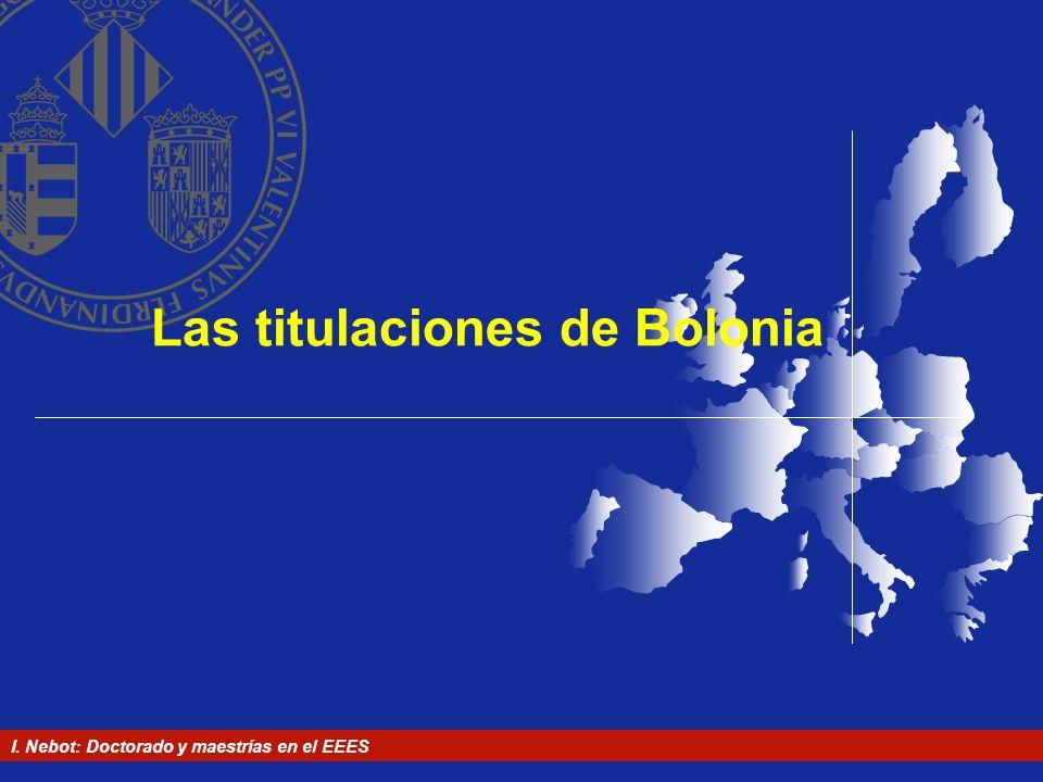 Las titulaciones de Bolonia