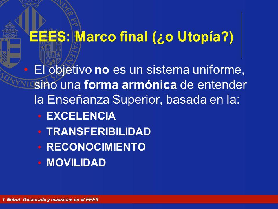EEES: Marco final (¿o Utopía )