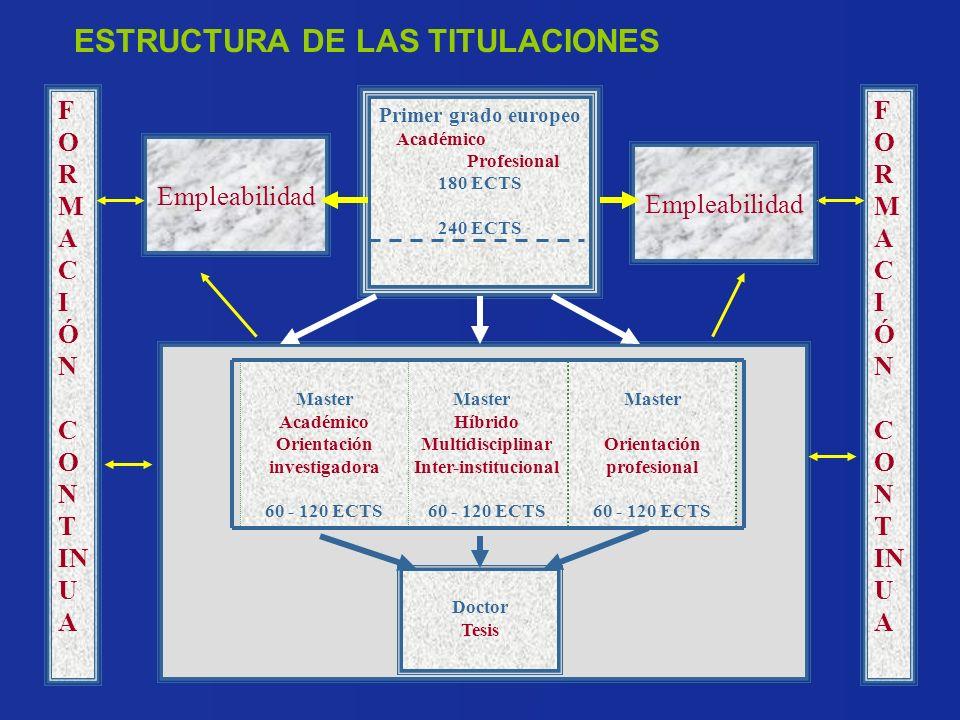 Orientación investigadora Orientación profesional