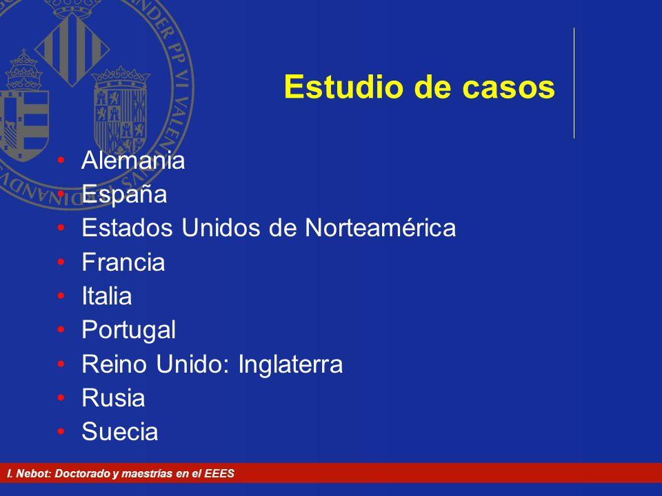 Estudio de casos Alemania España Estados Unidos de Norteamérica