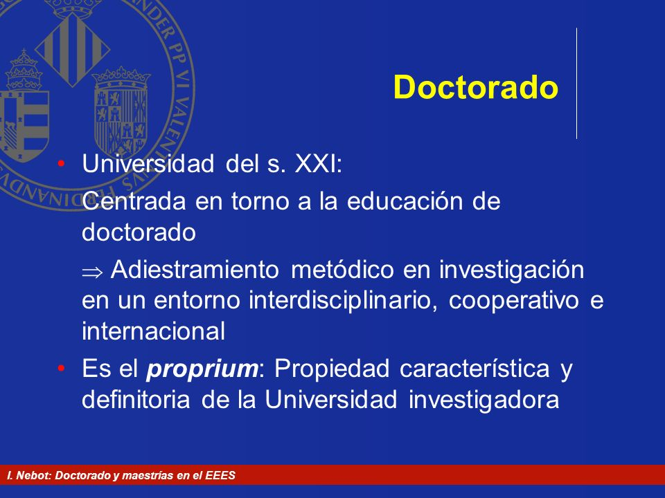 Doctorado Universidad del s. XXI: