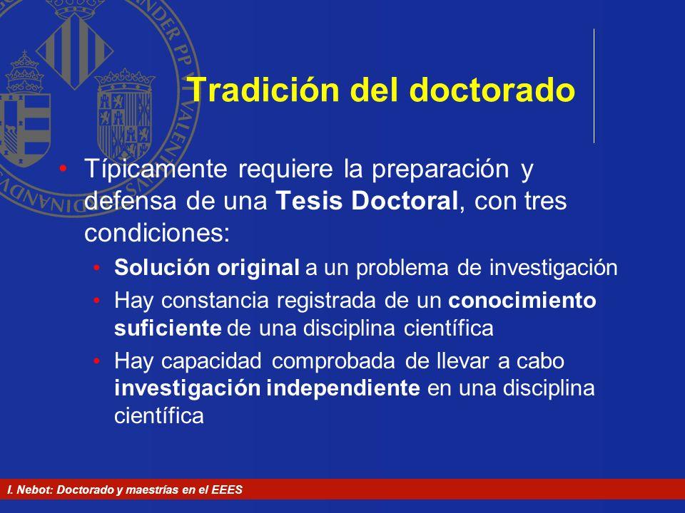 Tradición del doctorado