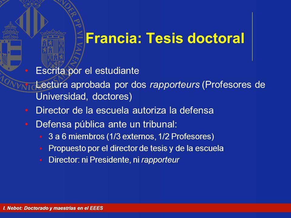 Francia: Tesis doctoral