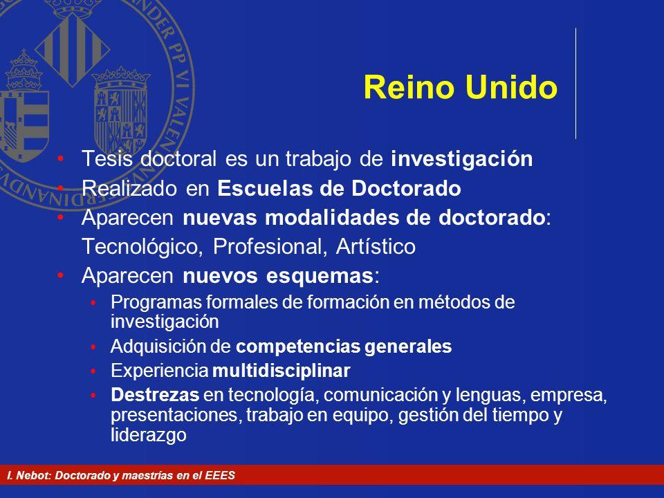 Reino Unido Tesis doctoral es un trabajo de investigación