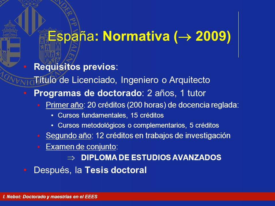  DIPLOMA DE ESTUDIOS AVANZADOS