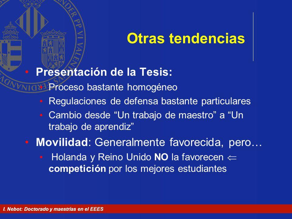 Otras tendencias Presentación de la Tesis: