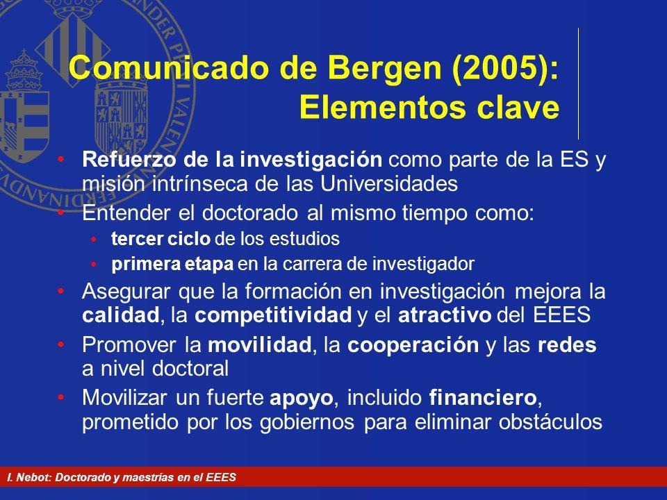 Comunicado de Bergen (2005): Elementos clave