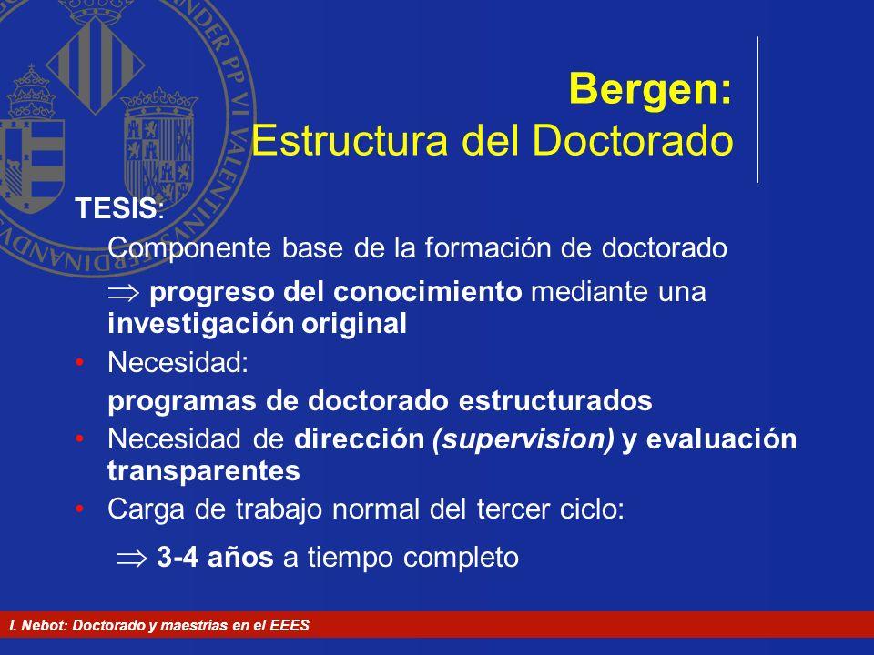 Bergen: Estructura del Doctorado
