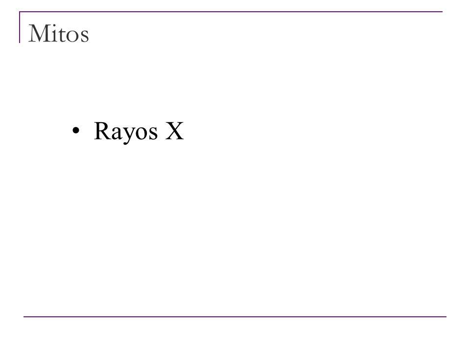 Mitos Rayos X