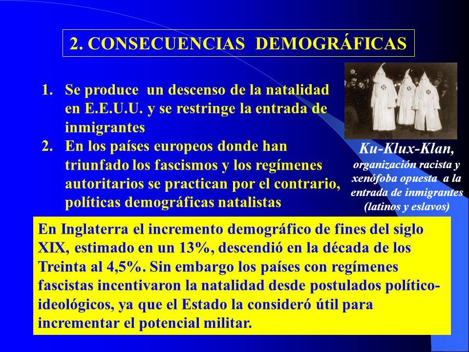 2. CONSECUENCIAS DEMOGRÁFICAS