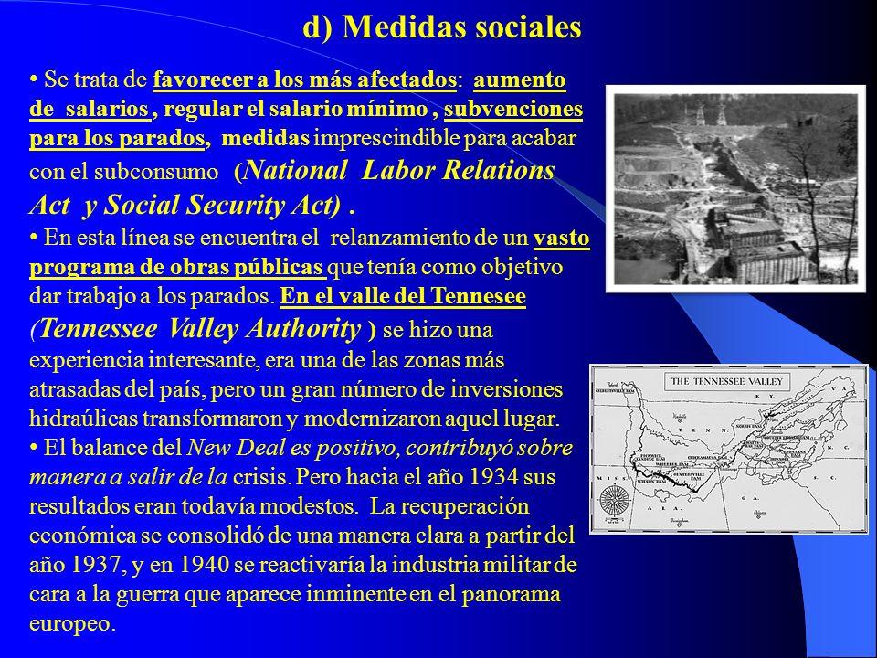 d) Medidas sociales