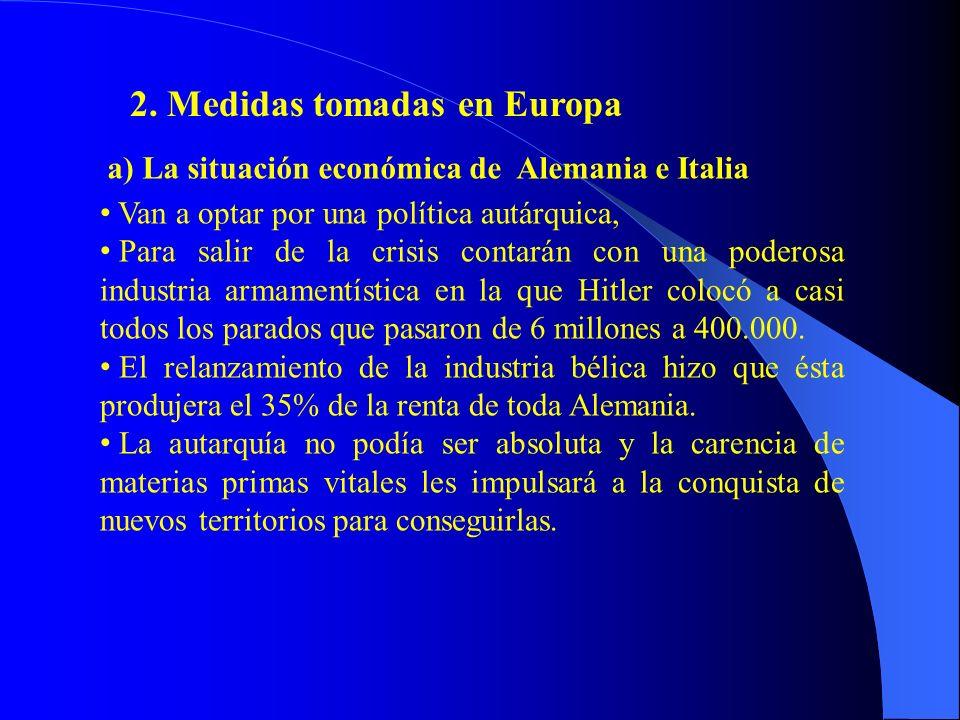 2. Medidas tomadas en Europa