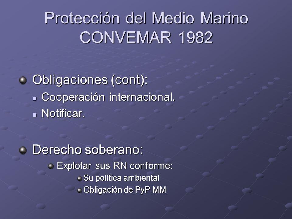 Protección del Medio Marino CONVEMAR 1982