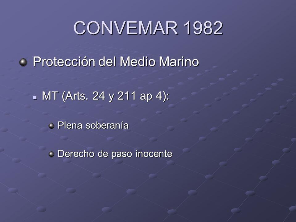 CONVEMAR 1982 Protección del Medio Marino MT (Arts. 24 y 211 ap 4):