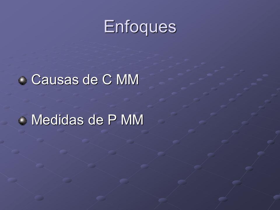 Enfoques Causas de C MM Medidas de P MM
