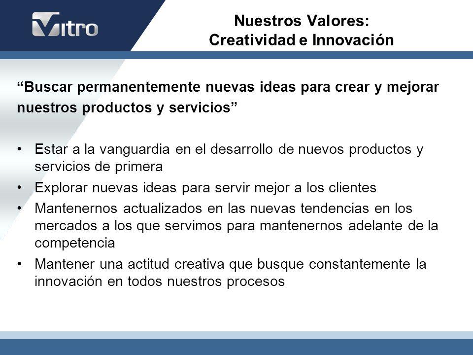 Nuestros Valores: Creatividad e Innovación