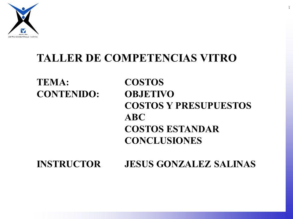 TALLER DE COMPETENCIAS VITRO