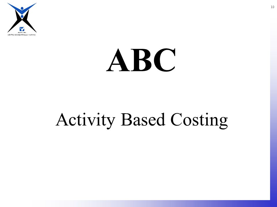 ABC Activity Based Costing