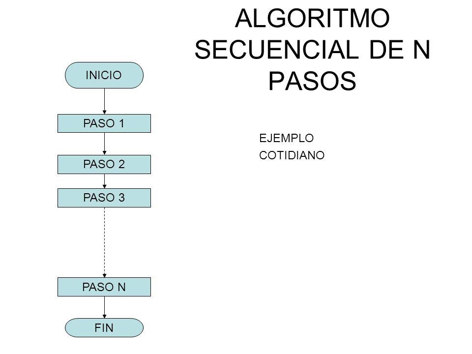 ALGORITMO SECUENCIAL DE N PASOS
