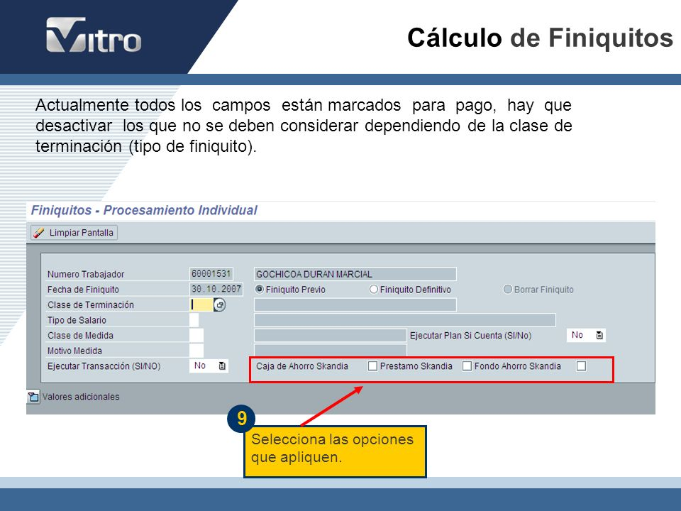 Cálculo de Finiquitos