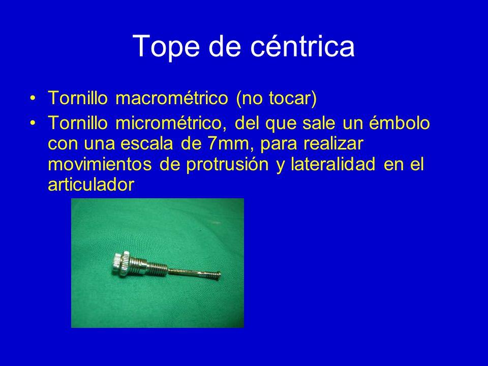 Tope de céntrica Tornillo macrométrico (no tocar)