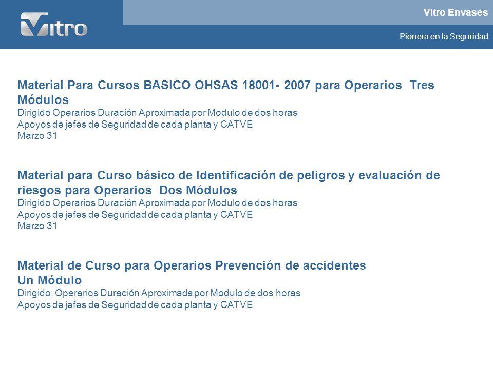 Material Para Cursos BASICO OHSAS 18001- 2007 para Operarios Tres