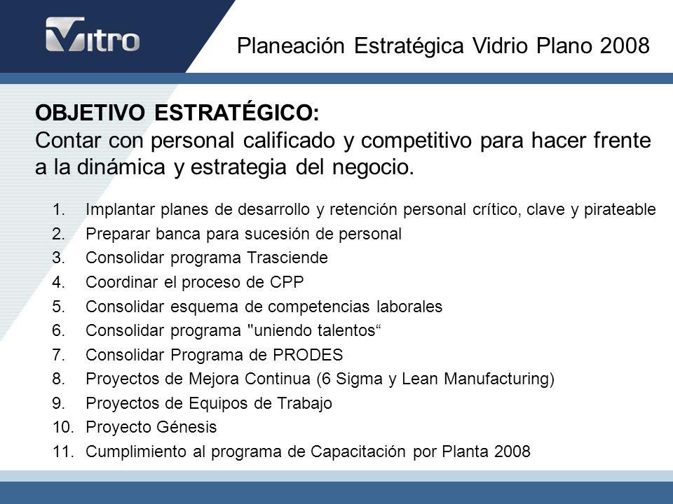 Planeación Estratégica Vidrio Plano 2008