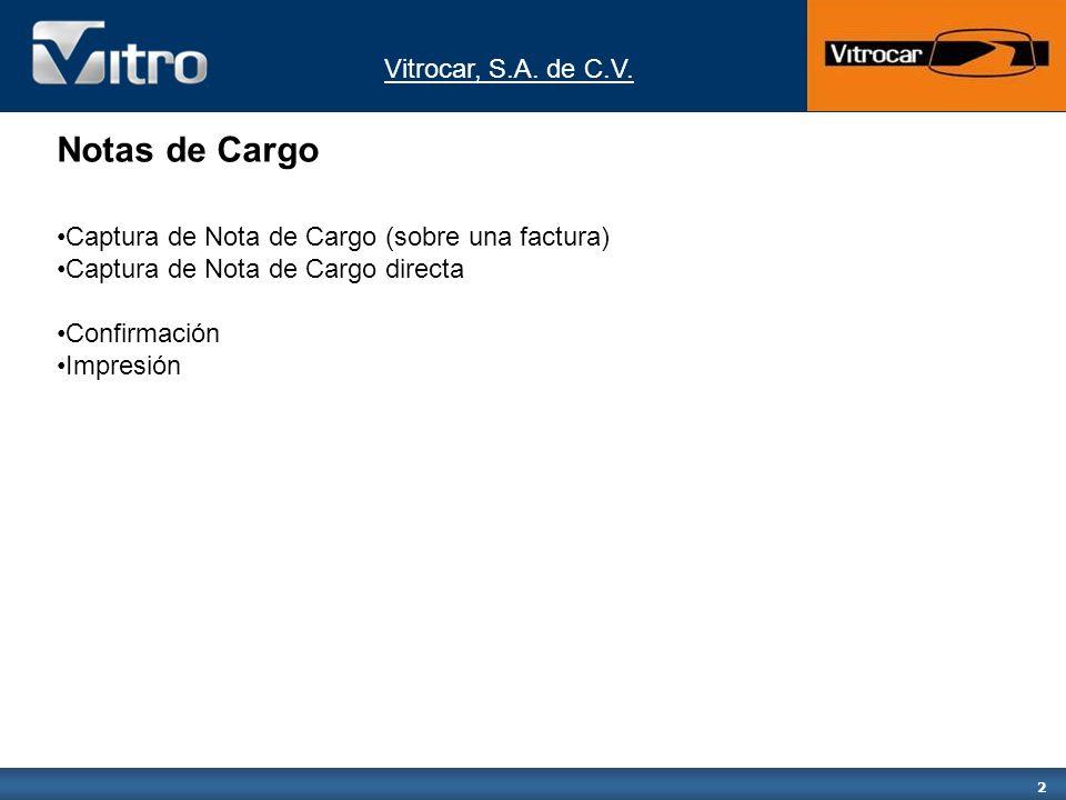 Notas de Cargo Captura de Nota de Cargo (sobre una factura)