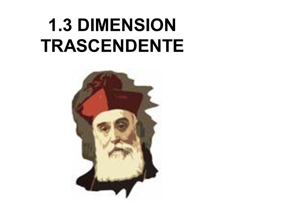 1.3 DIMENSION TRASCENDENTE