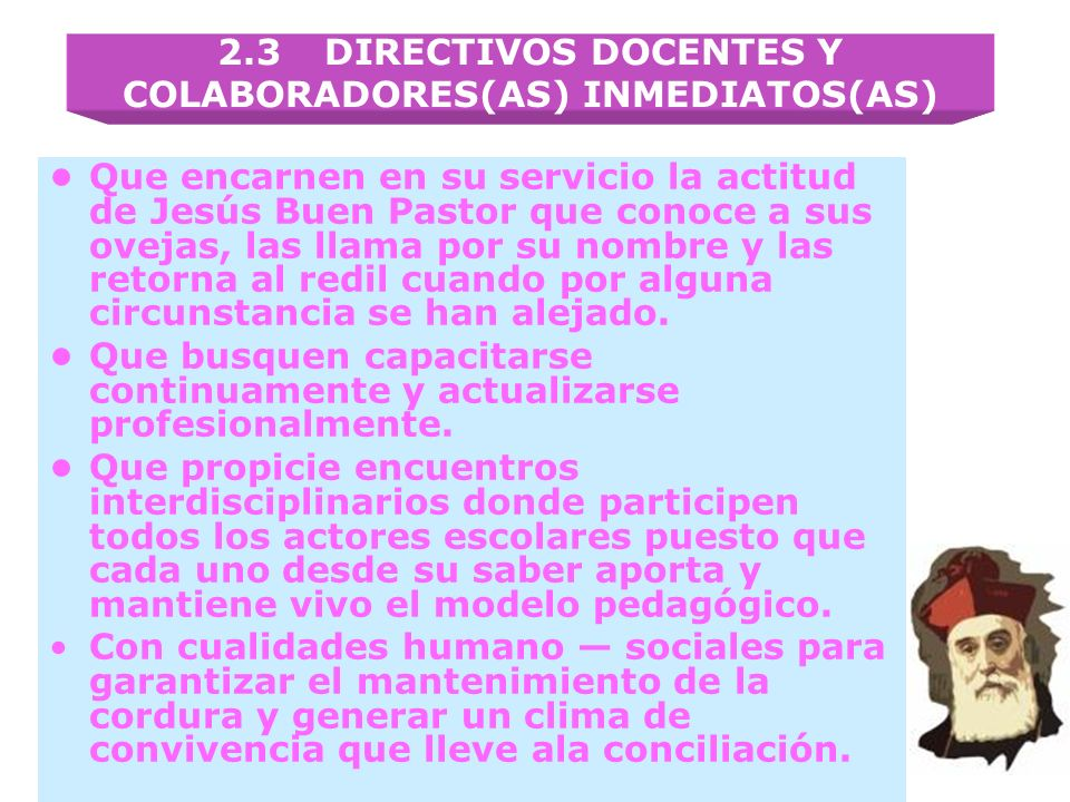 2.3 DIRECTIVOS DOCENTES Y COLABORADORES(AS) INMEDIATOS(AS)