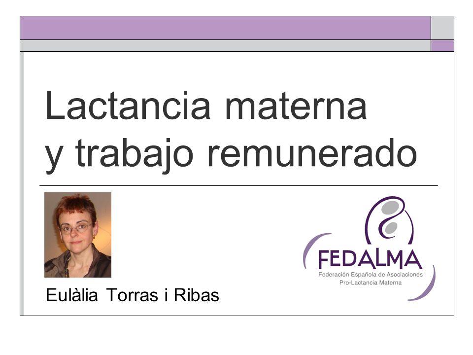 Lactancia materna y trabajo remunerado