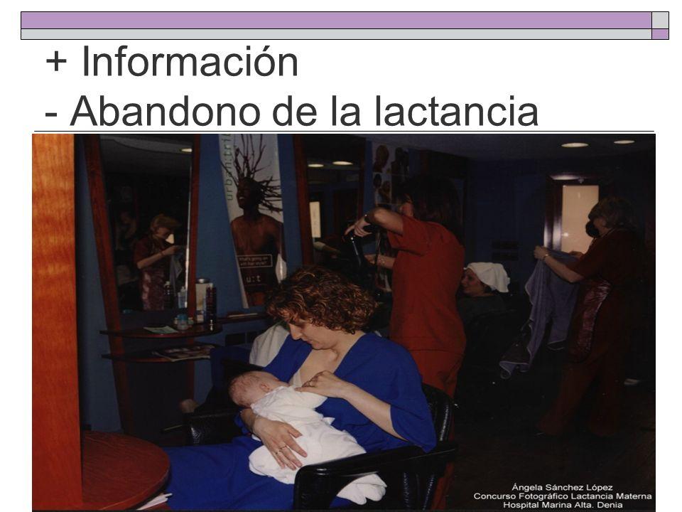 + Información - Abandono de la lactancia