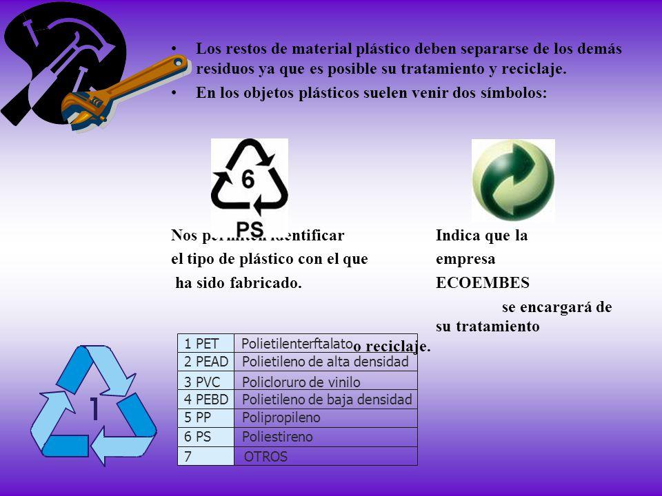 En los objetos plásticos suelen venir dos símbolos: