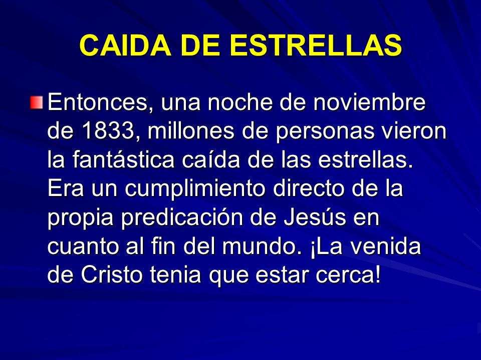 CAIDA DE ESTRELLAS