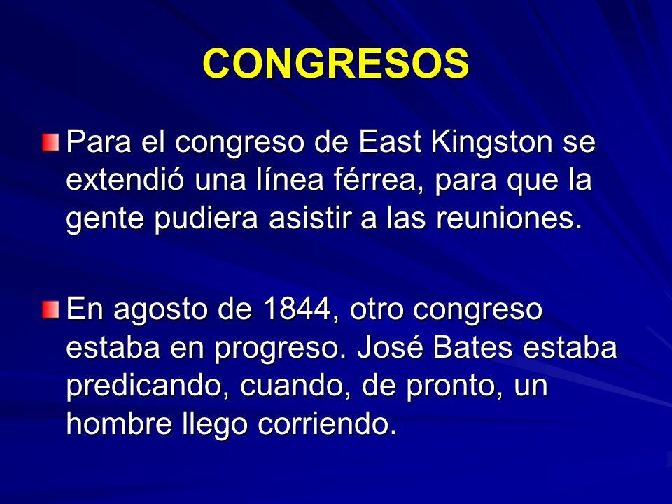 CONGRESOS Para el congreso de East Kingston se extendió una línea férrea, para que la gente pudiera asistir a las reuniones.