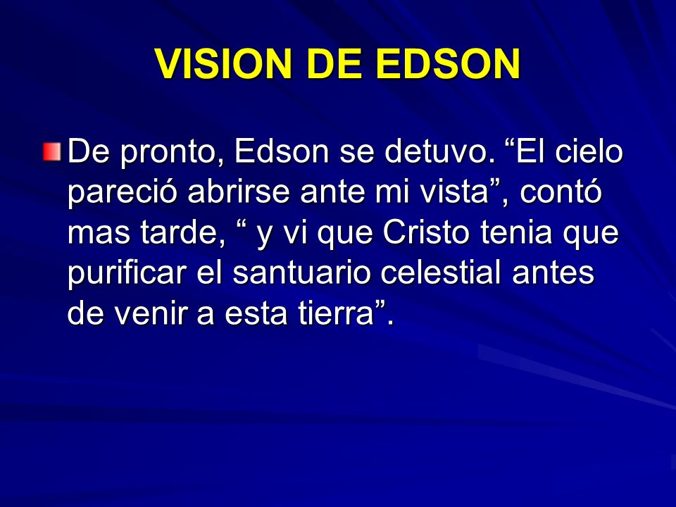 VISION DE EDSON