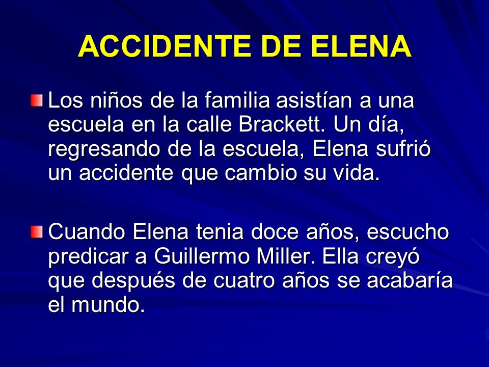 ACCIDENTE DE ELENA