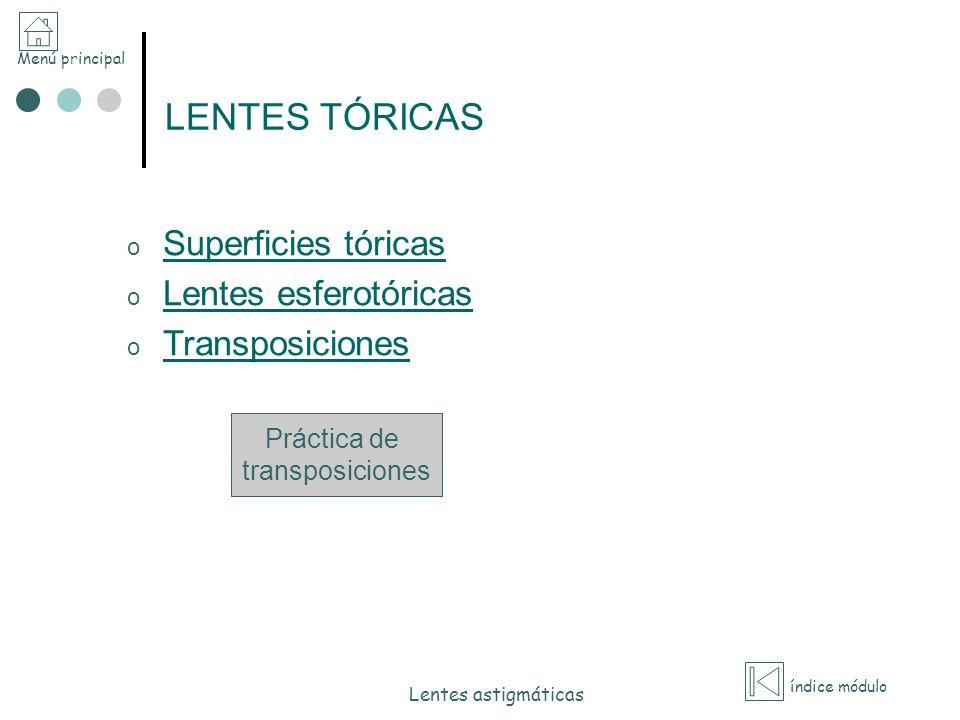 LENTES TÓRICAS Superficies tóricas Lentes esferotóricas