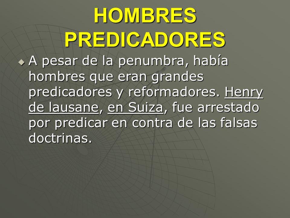 HOMBRES PREDICADORES