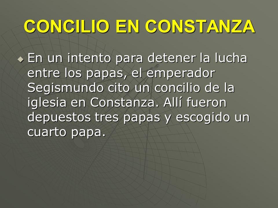 CONCILIO EN CONSTANZA