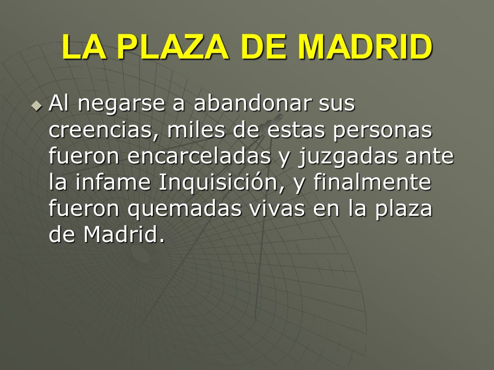 LA PLAZA DE MADRID