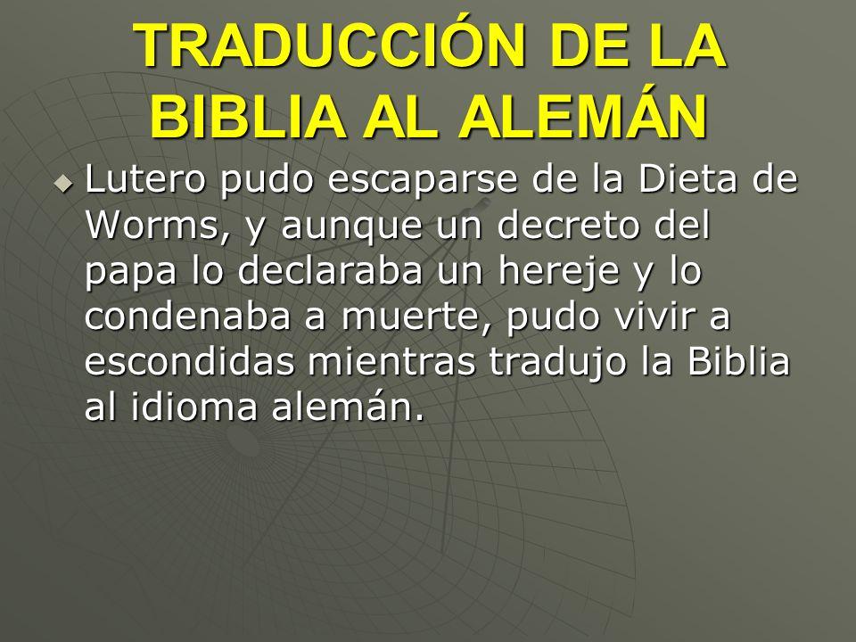 TRADUCCIÓN DE LA BIBLIA AL ALEMÁN