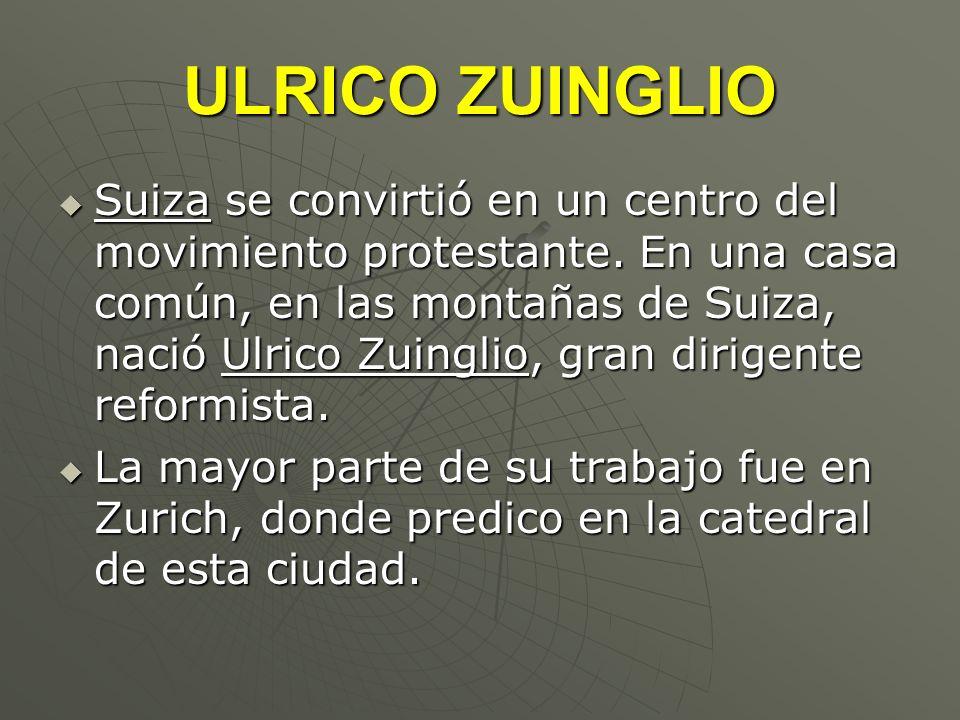 ULRICO ZUINGLIO